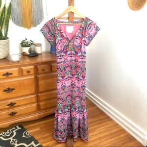 Anthropologie Vanessa Virginia Maxi Dress Size 4